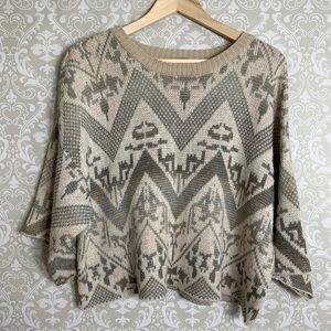 Free People Poncho Sweater